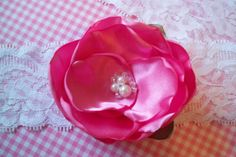 Pink Garter by BloomsandBlessings on Etsy