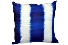 Tie Dye Pillow Blue & White