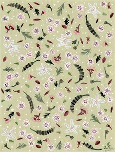 Little Flower pattern Art Print