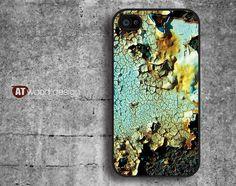 black iphone 4 case iphone 4s case iphone 4 cover classic metal  peeling off design printing. $13.99, via Etsy.