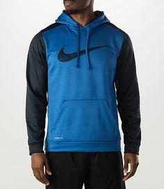 857a167272 Men's Nike KO Wetland Logo Pullover Hoodie - 688276 480 | Finish Line