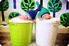 Newborn Baby Boy Photo Prop Knot Hat. $22.00, via Etsy.