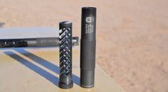 """Inland Manufacturing's new PM-22 rimfire suppressor has """"disposable"""" polymer baffles and the whole unit costs less than $200. photo from guns.com."""