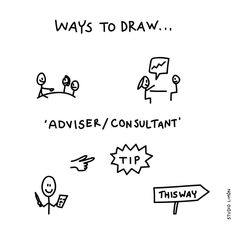 Advisor, Consultant - Ways to Draw Doodle Sketch, Doodle Drawings, Easy Drawings, Sketch Icon, Sketch Notes, Visual Note Taking, Visual Thinking, Visual Learning, Sketch Painting