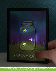 How awesome is this - a card that lights up in the dark (batterypowered leds)!! LOVE IT! the Lawn Fawn blog: A Fun Collaboration with Chibitronics! + video