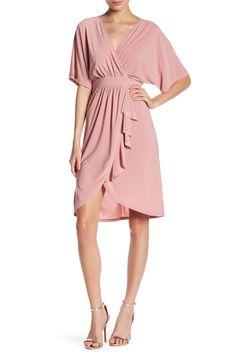 d537b28ae68b Ruffle Drape Dress by JUST FOR WRAPS on  nordstrom rack Nordstrom Dresses