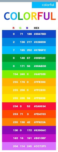 Colorful web colors