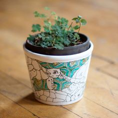 Blue Turtles Planter by LoucheLab on Etsy, $40.00
