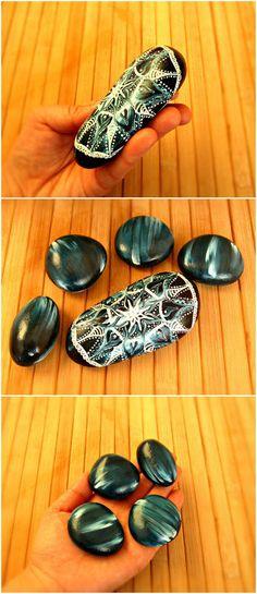 Boho teal decor boho turquoise decor mandala by TheLuckyStones