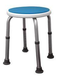 Taboret okrągły do wanny, prysznicowy Blue