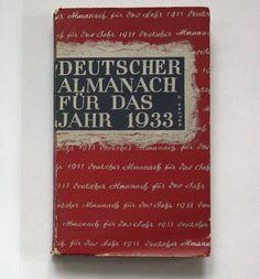 Erwin Guido Kolbenheyer, Deutscher Almanach für das Jahr 1933, Leipzig: Verlag von Philipp Reclam Jun., 1932. Jacket by Georg Salter.
