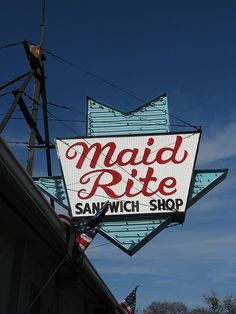 Maid-Rite is one of the first fast food franchises in the United States starting in Muscatine, IA in 1926. By the end of the 20's there were four restaurants, all of which are still open. They were one of the first chains to have a drive-up window. This location is in Qunicy, IL & has been open since 1928!