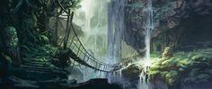 jungle bridge by Jastorama.deviantart.com on @deviantART