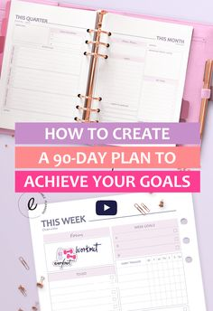 Are you ready to actually achieve all your goals? I have a step-by-step guide for you on oow to set goals and achieve them by creating a 90 days plan :) Ditch the guesswork and start taking action today! The Plan, How To Plan, Business Planning, Business Tips, Online Business, Etsy Business, Goal Planning, Digital Bullet Journal, 90 Day Plan