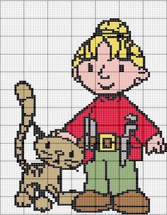 Wendy Bob the Builder  hama perler pattern