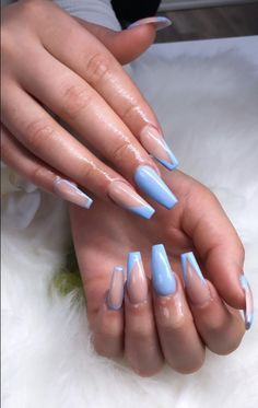 32 Elegant Acrylic Long Nails Design For Summer Nails -Coffin & Stiletto - - Coffin & Stiletto Nails Design - Aycrlic Nails, Stiletto Nails, Hair And Nails, Pedicure Nails, Blue Acrylic Nails, Summer Acrylic Nails, Acrylic Summer Nails Coffin, Blue Coffin Nails, Long Nail Designs