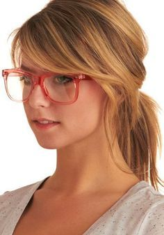 long sideswept bangs glasses - Google Search