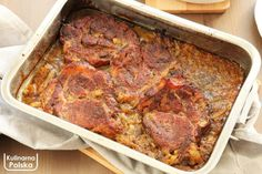 karkowka-karczek-pieczony-duszony-przepis-1 Banana Bread, Steak, Food And Drink, Beef, Desserts, Dish, Pork Sirloin Recipes, Chef Recipes, Cooking