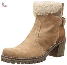 Manas CERVIA, Bottes mi-hauteur avec doublure chaude femme, Marron (Legno Terra Camel), 41 EU - Chaussures manas (*Partner-Link)