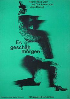 modernoffset:  Hans Hillmann, It Happened Tomorrow (René Clair,...
