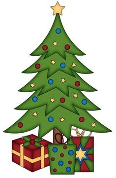 christmas clip art santa behind a christmas tree clip art santa rh pinterest com clipart black and white christmas tree clipart of christmas tree ornaments