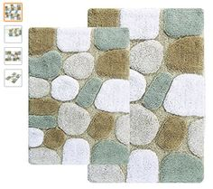 Chesapeake 2-Piece Pebbles 21-Inch by 34-Inch and 24-Inch by 40-Inch Bath Rug Set, Spa - http://amzn.to/2vQADGa