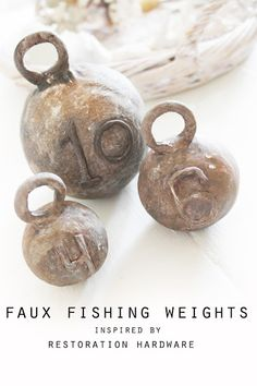 ..Twigg studios: faux vintage whale species chart and restoration hardware inspired fishing weights tutorial
