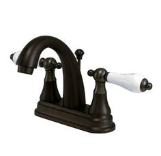 Buy the Kingston Brass Oil Rubbed Bronze Direct. Shop for the Kingston Brass Oil Rubbed Bronze English Vintage Centerset Bathroom Faucet with Brass Pop-Up Drain Assembly and Porcelain Lever Handles and save. Widespread Bathroom Faucet, Lavatory Faucet, Bathroom Sink Faucets, Bathrooms, Sinks, Bronze Finish, Chrome Finish, Nickel Finish, Brushed Nickel