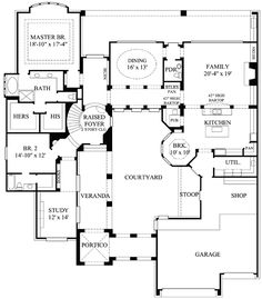 Plan MD  Central Courtyard   Courtyard House Plans    Rear Courtyard House Plans         European  Luxury  Premium Collection House
