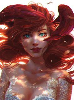 New Painting Girl Illustration Character Design Ideas Art Disney, Disney Kunst, Deviantart, Digital Art Girl, Inspiration Art, Portrait Illustration, Face Illustration, Girl Illustrations, Fantasy Illustration