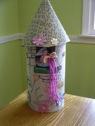 Rapunzel Tower Valentine box. This would be really cute w/ an oatmeal box and really easy too!