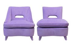 Viyet   Luxury Furniture Consignment - Seating - Ed Hardy SF Companion Mid Century Chairs