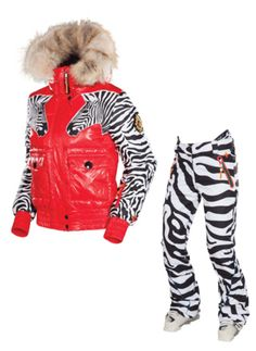 ski outfit 2011 ski pants ski jaacket With your arms using poles you would look like a running zebra from the side!!!!