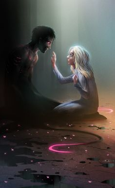 This looks like a weird version of Darkiplier and Amy Fantasy Couples, Fantasy Characters, Character Art, Drawings, Fantasy Art, Amazing Art, Markiplier, Dark Art, Dark Fantasy Art