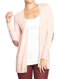 $34 Old Navy Pink Sparkle Elbow Cardigan // Love Lee Blog: Fashion for a Cause #bcam