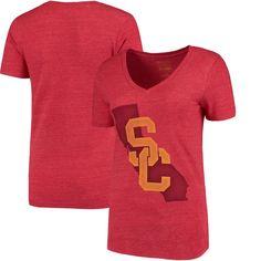USC Trojans Women's Pride V-Neck T-Shirt - Cardinal