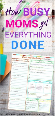 How busy moms get everything done! Time management tips for organizing your productive daily routines. #handlinghomelife