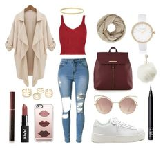 """""""casual school day outfits"""" by hajarlamine on Polyvore featuring mode, River Island, Casetify, Red Herring, John Lewis, Charlotte Russe, NARS Cosmetics, MANGO et Kevyn Aucoin"""