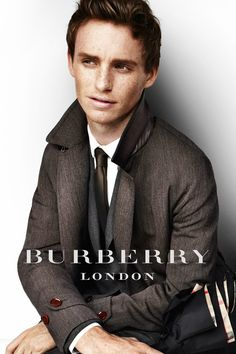 Eddie Redmayne from Les Mis in Burberrry.