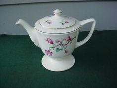 Homer Laughlin Teapot in the Dogwood pattern