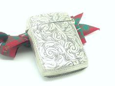 Sterling Silver Vesta Case Matchsafe English by DartSilverLtd, £54.00
