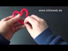 Basteln: Strickliesel Herz - YouTube