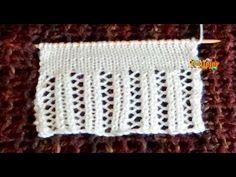 Cómo Tejer BORDE ELEGANTE - Knitted Lace Edgings 2 Agujas (384) - YouTube