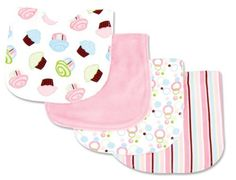 Trend Lab 4 Piece Bib Set, Cupcake