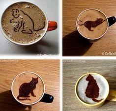 Cafés crème insolites ! Coffee Is Life, I Love Coffee, Coffee Break, Best Coffee, Coffee Time, Latte Art, Coffee Latte, Coffee Shop, Coffee Lovers