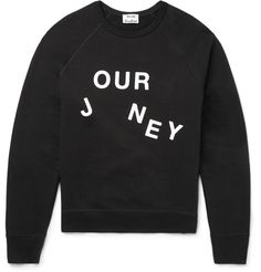 ACNE College Journey Loopback Cotton-Jersey Sweatshirt
