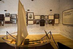 Réplica de um barco rabelo na sala-museu da Quinta do Bomfim. Fotografia: Rui Manuel Ferreira / Global Imagens
