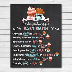 Gender reveal party Old wives tales baby door Anietillustration