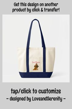 Love Boxer Puppy Dog Canvas Tote Bag - tap, personalize, buy right now! #puppy #love #dog #pup #puppies
