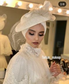 tesettür First Narration; Hijabi Wedding, Wedding Hijab Styles, Muslimah Wedding Dress, Hijab Bride, Green Wedding Dresses, Muslim Wedding Dresses, Formal Dresses For Weddings, Bridal Wedding Dresses, All White Wedding